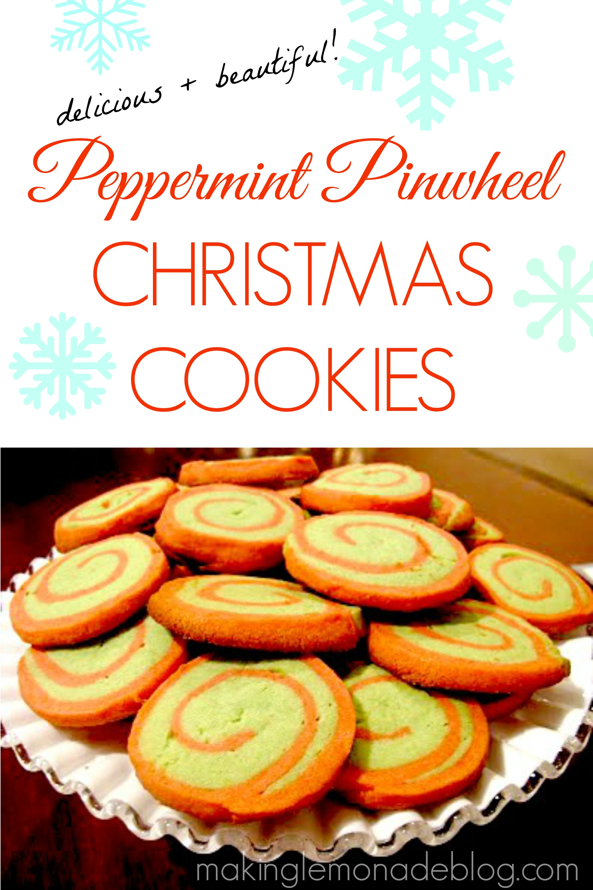 Peppermint Pinwheel Christmas Cookies