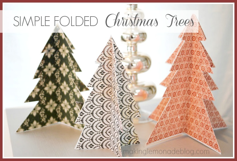 Easy Christmas Craft Ideas: Simple Paper Trees