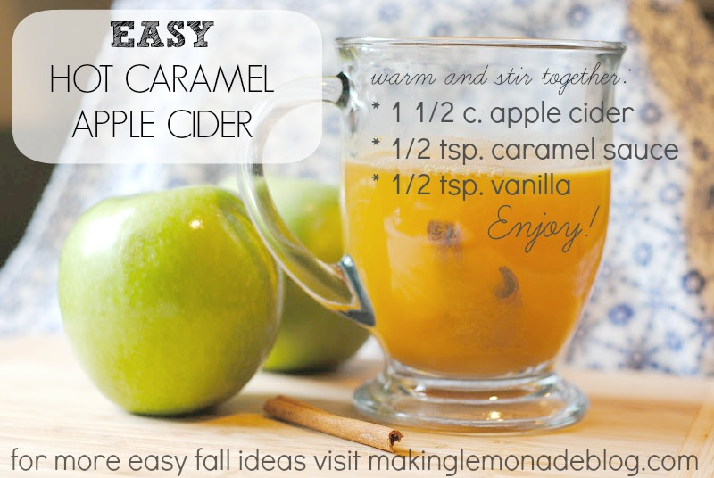 Hot Caramel Apple Cider: PERFECT fall beverage