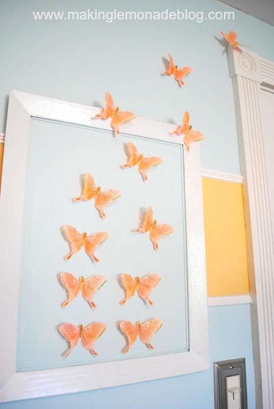 Butterfly Girls Nursery Wall Art