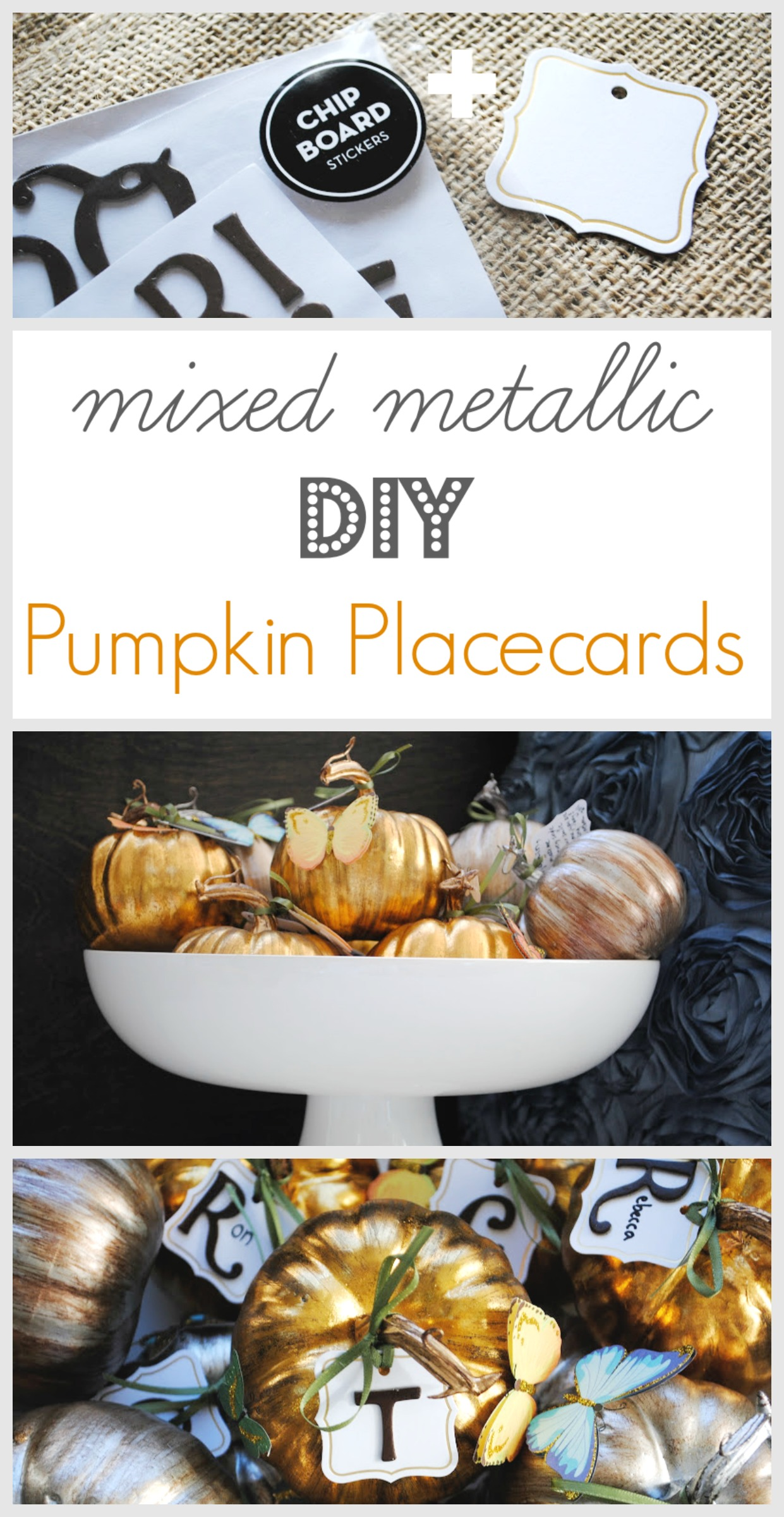 Easy Thanksgiving Pumpkin Placecard Idea