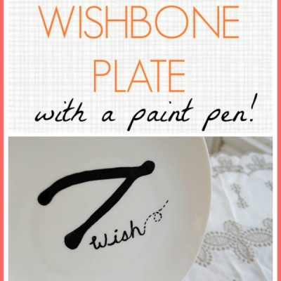 DIY Wishbone Plate (West Elm Knock-Off)