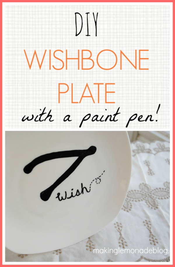 DIY Wishbone Plate {Thanksgiving Decor Ideas}