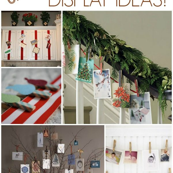Creative Ways to Display Christmas Cards via makinglemonadeblog.com