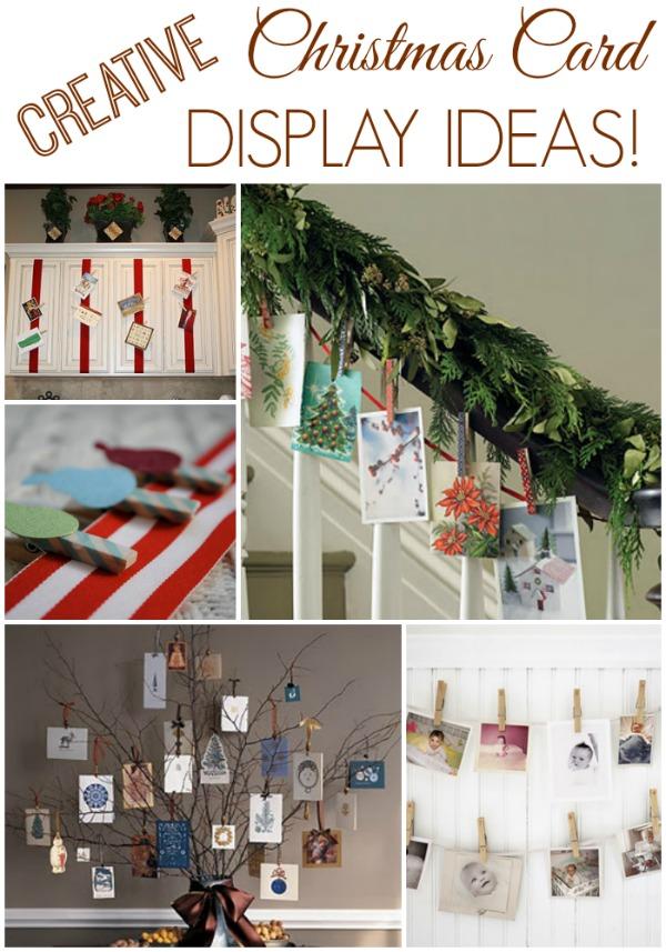 12 days of christmas inspiration displaying your cards - Christmas card display ideas ...