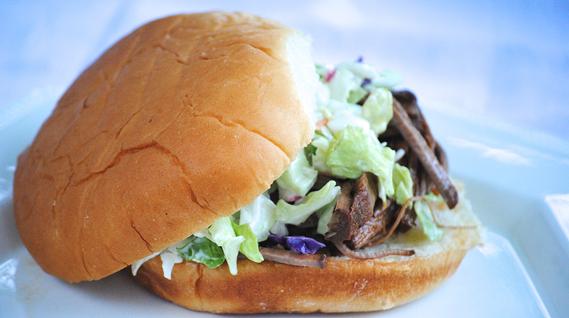 Game Day Slowcooker Beef Sandwiches