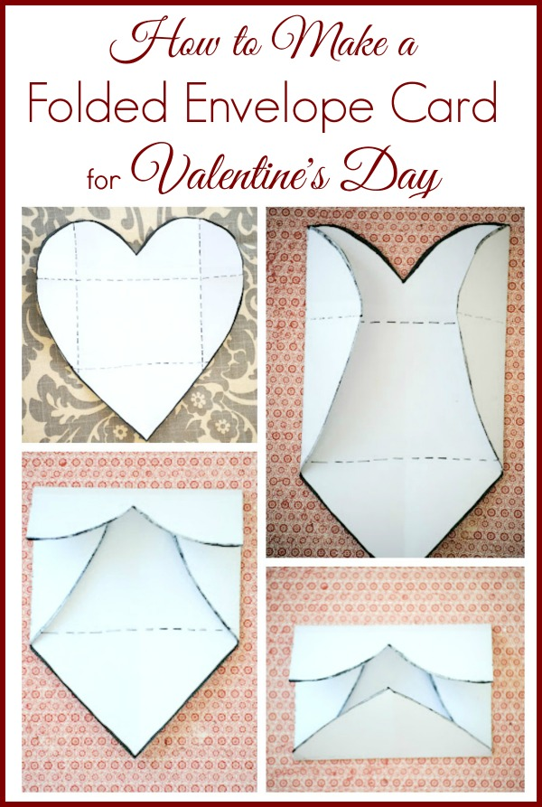 How to Make A Folded Envelope Photo Valentine's Day Card
