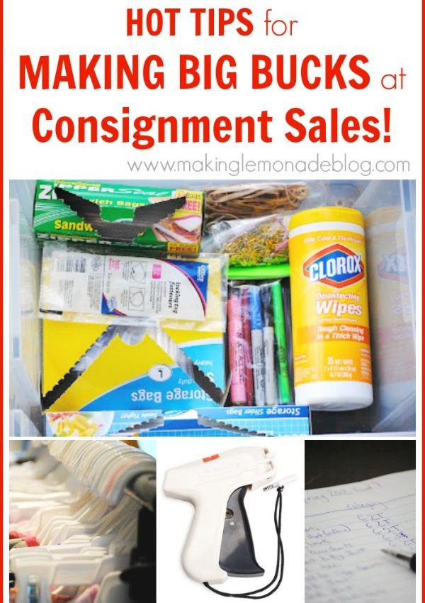 How to Make TONS of Money at Consignment Sales! via www.makinglemonadeblog.com #kids #consignment #frugal
