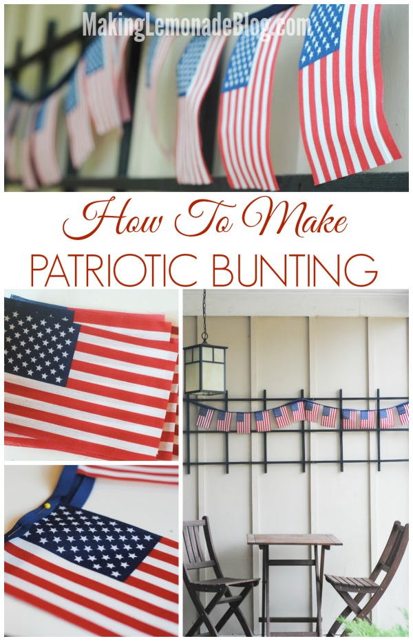 Easy Patriotic Flag Bunting for the 4th of July