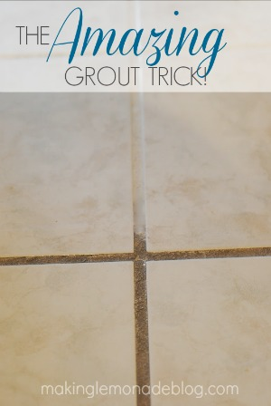 amazing trick for cleaning your grout using two things you probably