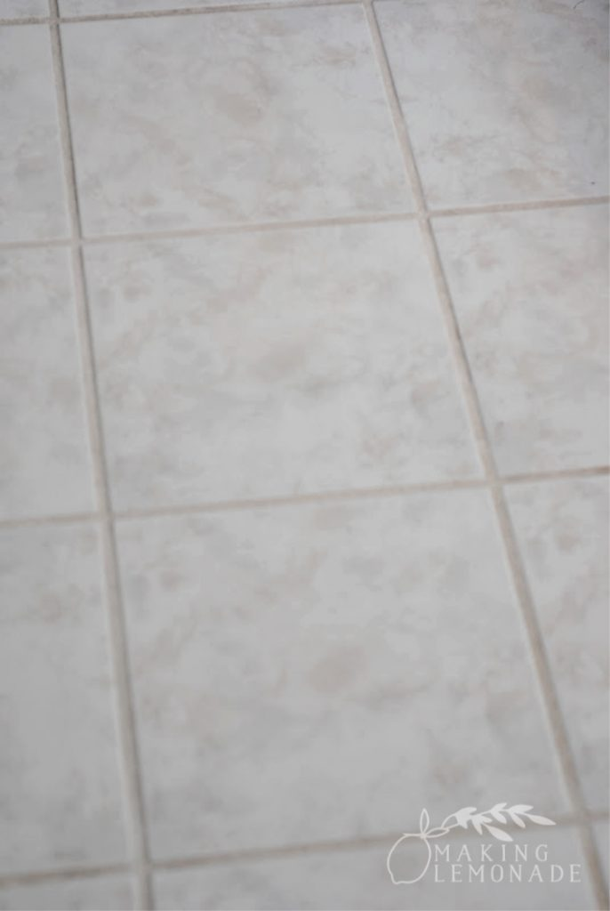 The MAGIC Grout Trick-- how to clean grout easily and naturally with this one trick!
