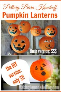 Pottery Barn Knock-off: Hanging Pumpkin Lanterns