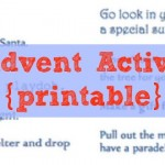 Advent Calendar Activities free printable