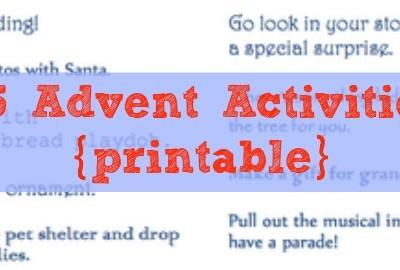 Countdown 'Til Christmas: Printable Advent Activities