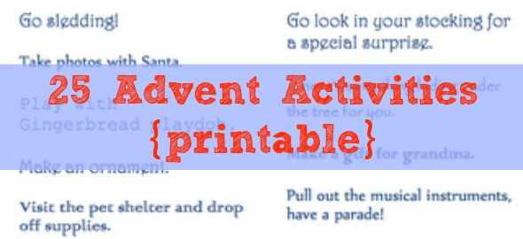 Countdown 'Til Christmas: Printable Advent Activities