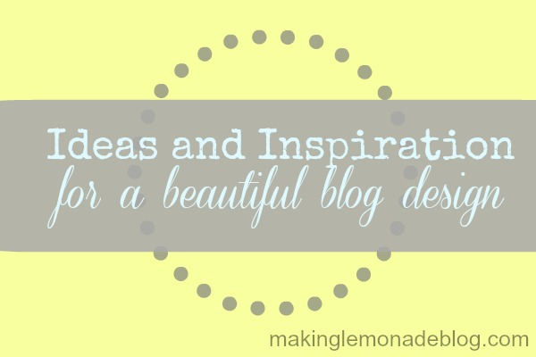 blog design ideas and inspiration