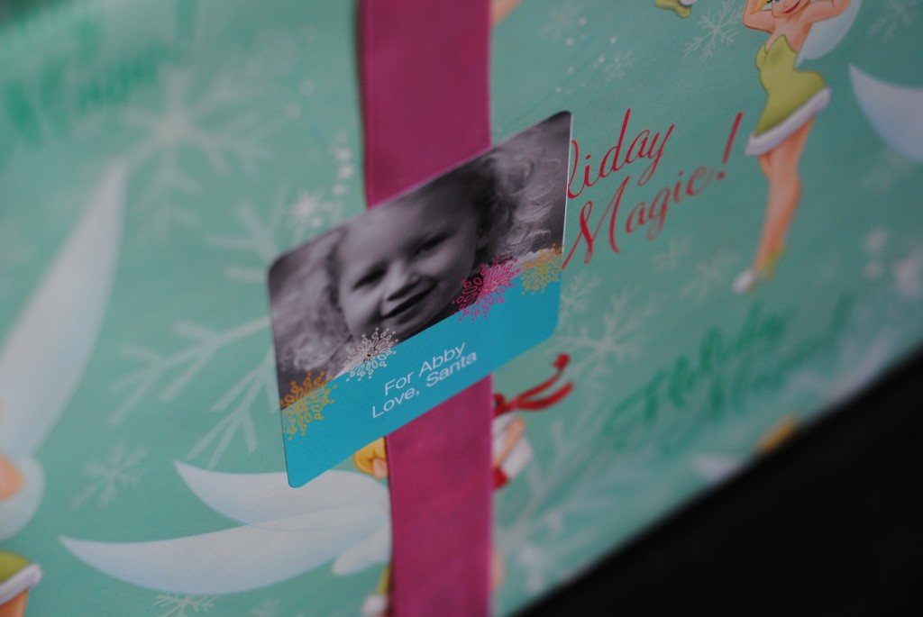 personalized photo stickers (quick gift wrap ideas)