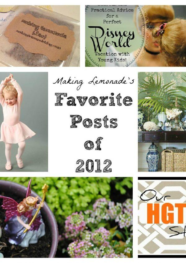 Favorite Posts of 2012