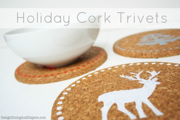 Holiday Cork Trivet