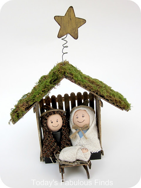 Popsicle Stick Nativity Scene from Today's Fabulous Finds: made from ...