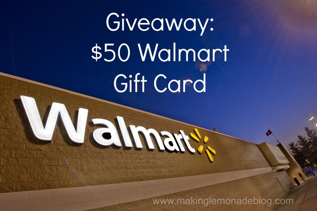 Giveaway 50 Walmart Gift Card