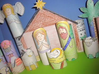 DIY Kids Nativity Sets and Nativity Craft Ideas