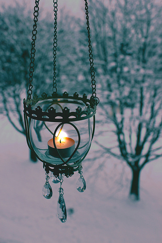 Silent Night lyrics candle light snow
