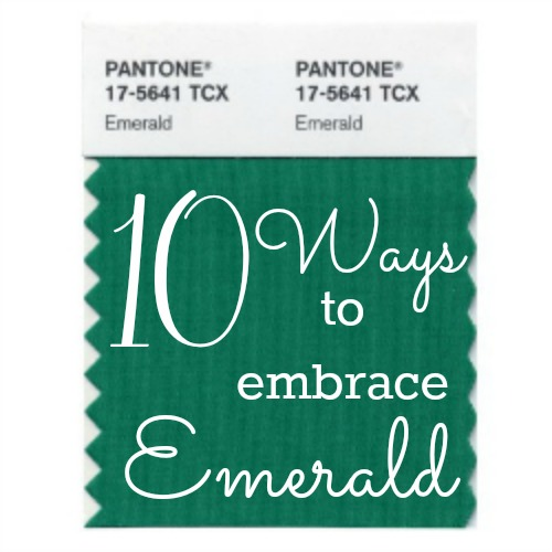 10 Ways to Use Emerald in your Home