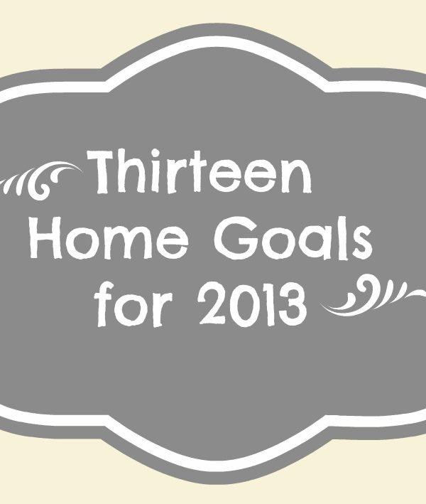 Thirteen Home Goals for 2013