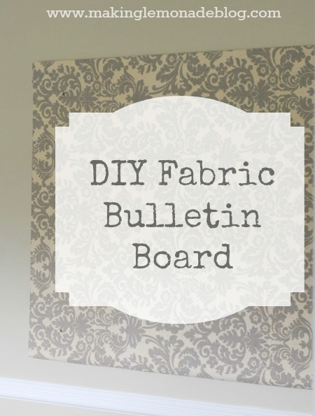 Easy Diy Bulletin Board Fabric Covered Foam