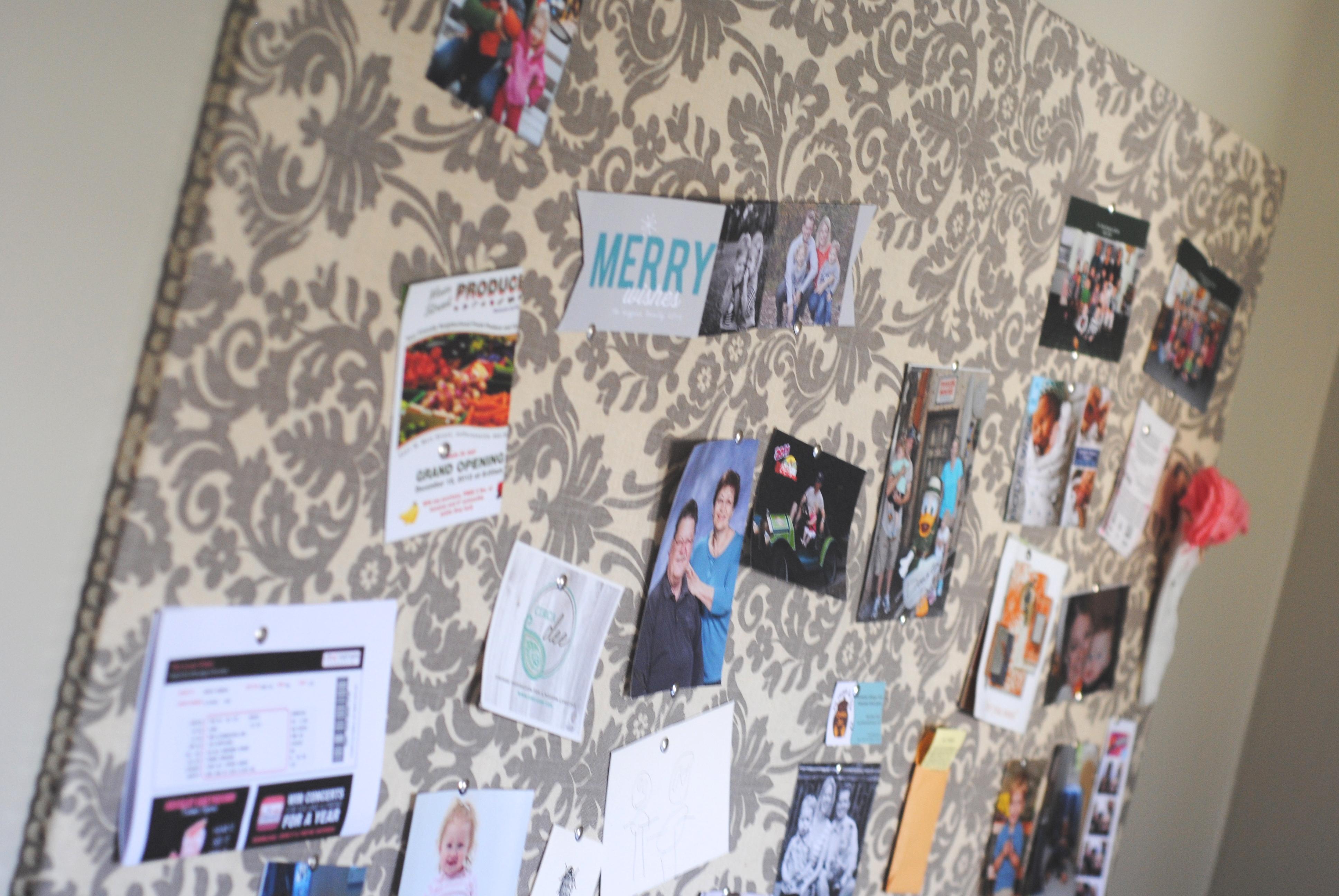 Diy Fabric Covered Bulletin Board Making Lemonade