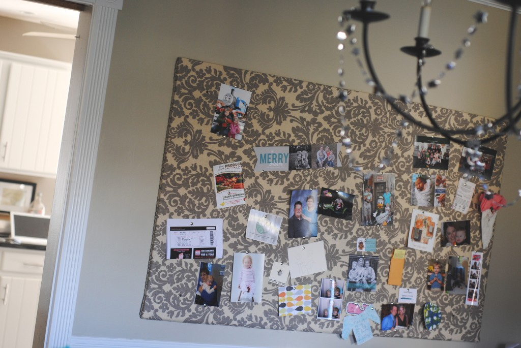 Easy DIY Bulletin Board {fabric covered foam board}