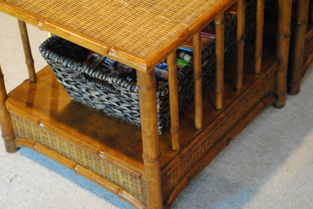 faux bamboo coffee tables {13 Home Goals for 2013}