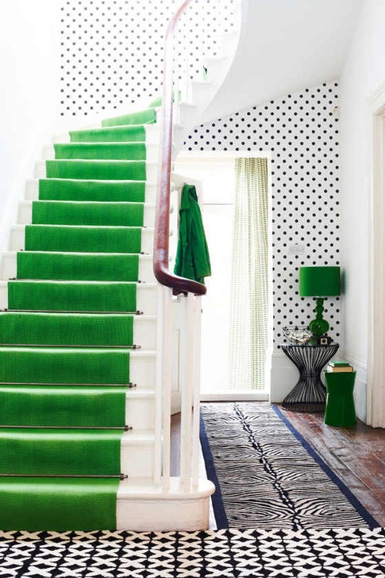entryway ideas {Pantone Color of the Year: Emerald}