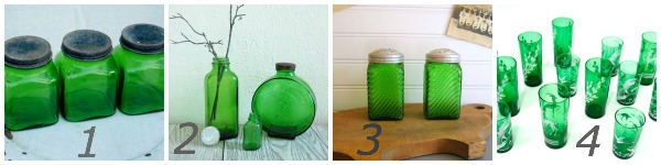 vintage green glass {Pantone Color of the Year: Emerald}