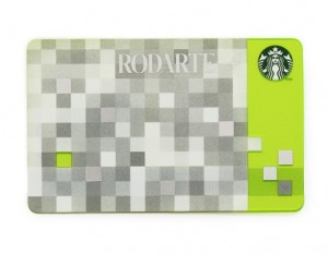 Rodarte designed Starbucks card