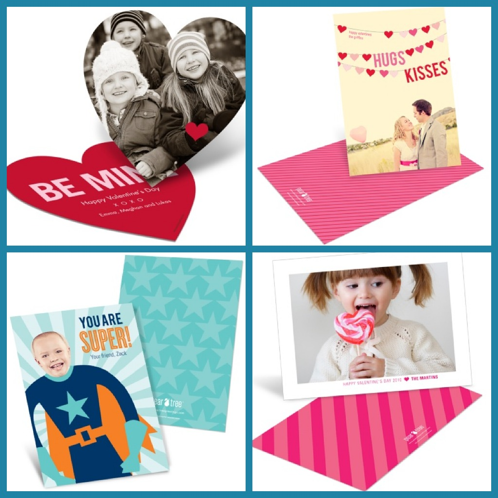 Kids Valentines Day Photo Cards