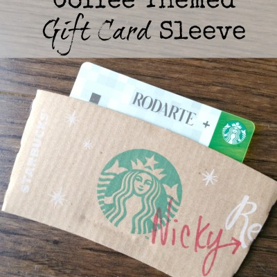 Coffee Themed Gift Card Holder