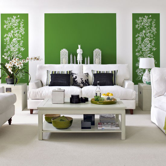 green and white walls {Emerald}
