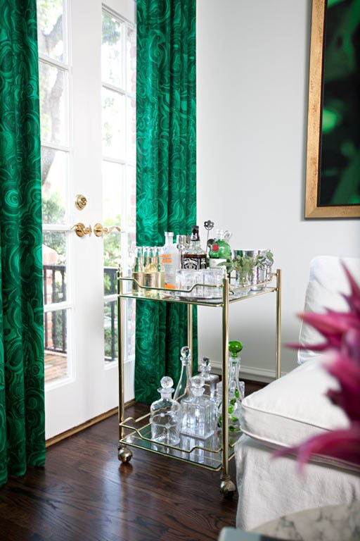 malachite curtains {Pantone Color of the Year: Emerald}
