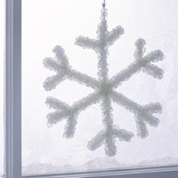snowflake in window