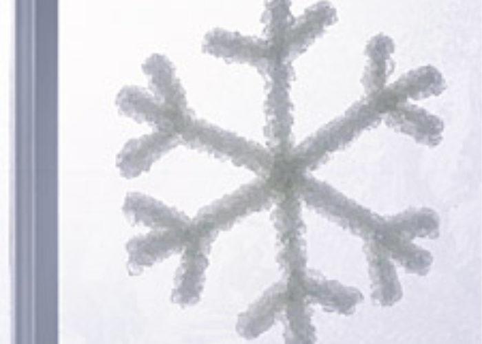 snowflake in window