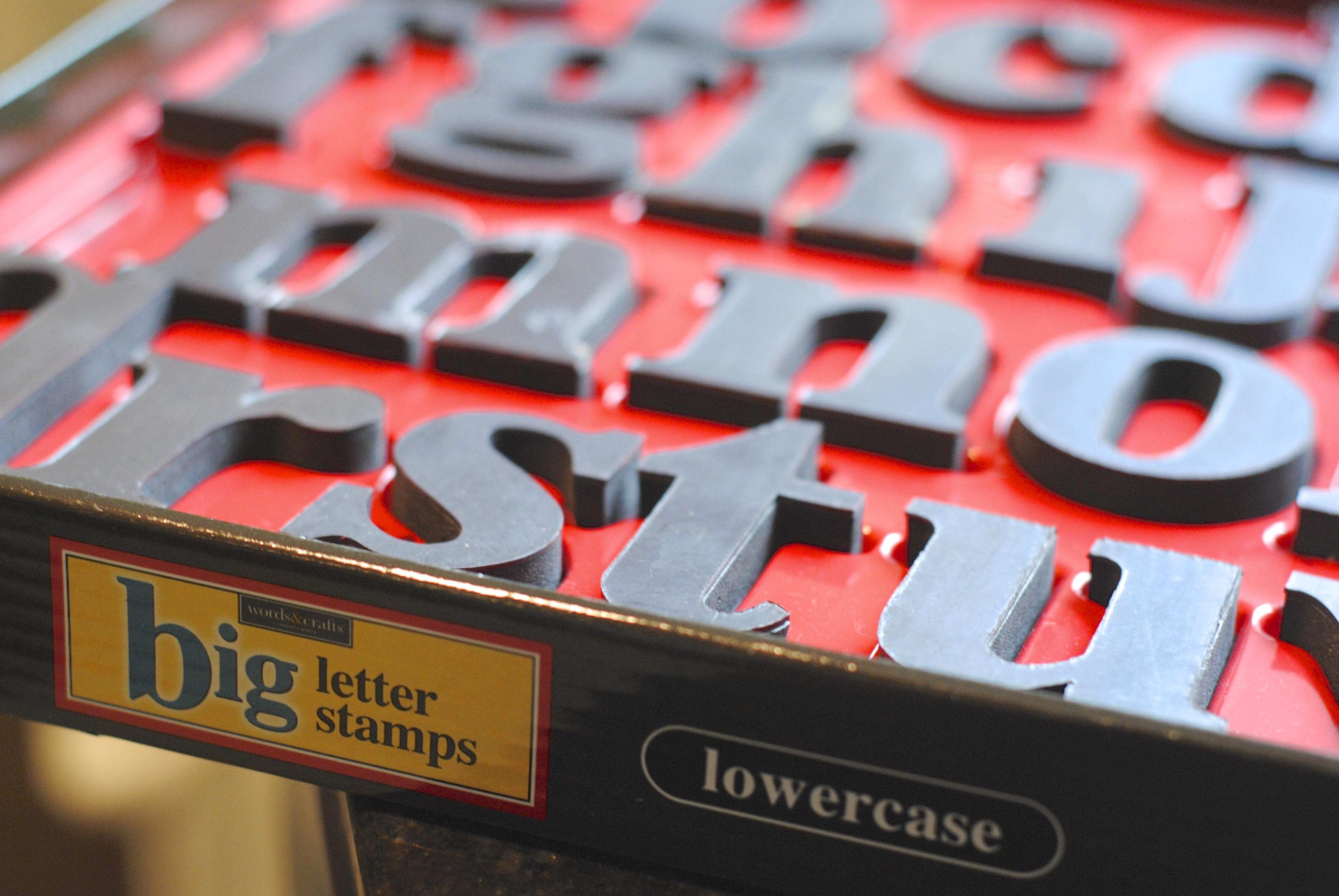 BEST alphabet letter rubber stamps