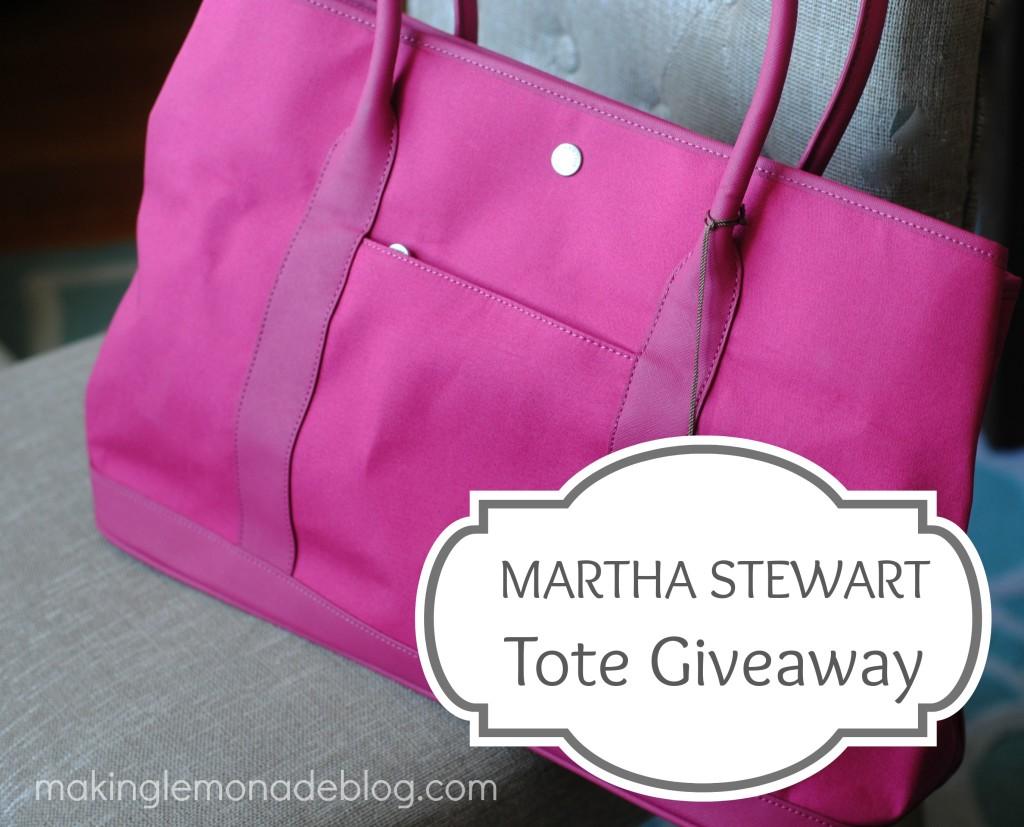 Martha Stewart Tote Giveaway