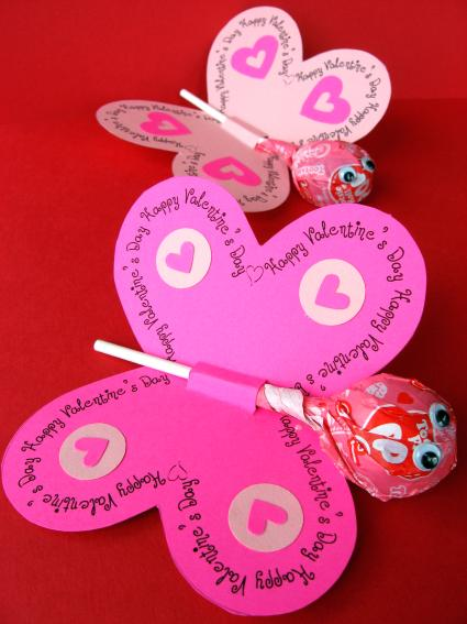 Butterfly Lollipop Valentines {Creative Valentines Day Cards & Ideas for Valentine's Day}