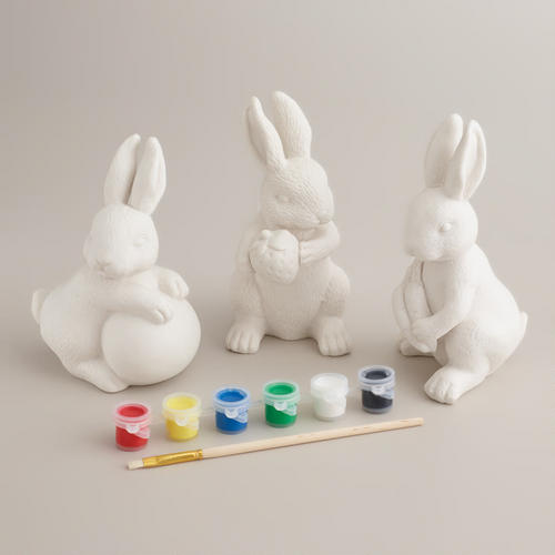 Paintable Bunnies for Easter Baskets