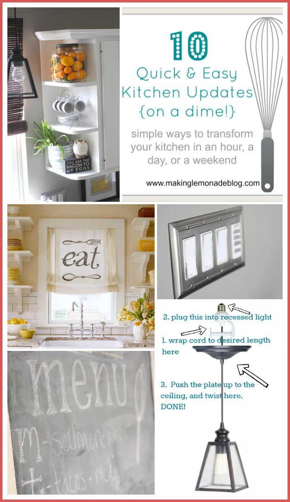 10 Budget Kitchen Renovation Ideas on a Dime! via www.makinglemonadeblog.com
