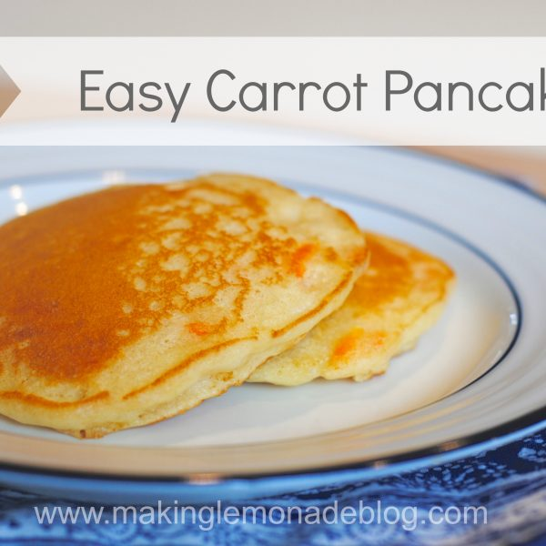 easy and delicious carrot pancakes