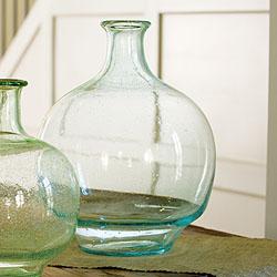 aqua demijohn glass vase