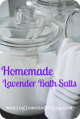 Homemade Lavender Bath Salts for a Mother's Day Gift